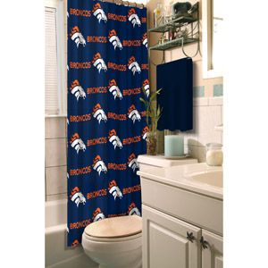 Nfl Denver Broncos Shower Curtain Shower Curtains Walmart
