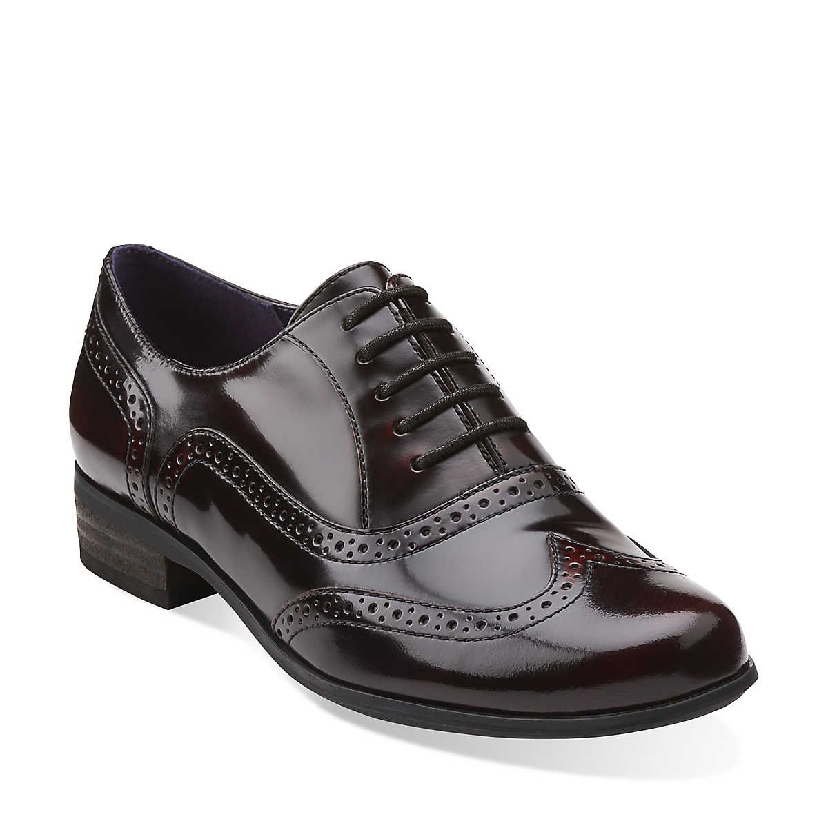 Hamble Oak in Burgundy Patent Leather Women's Shoes from