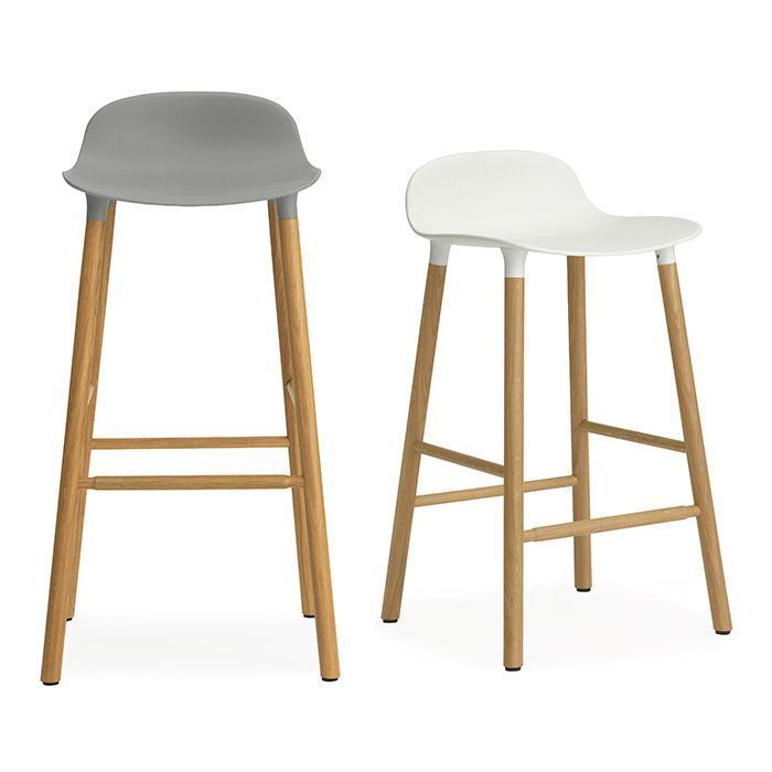 Prime Normann Copenhagen Form Bar Stool Scandi Barstool Oak Legs Bralicious Painted Fabric Chair Ideas Braliciousco