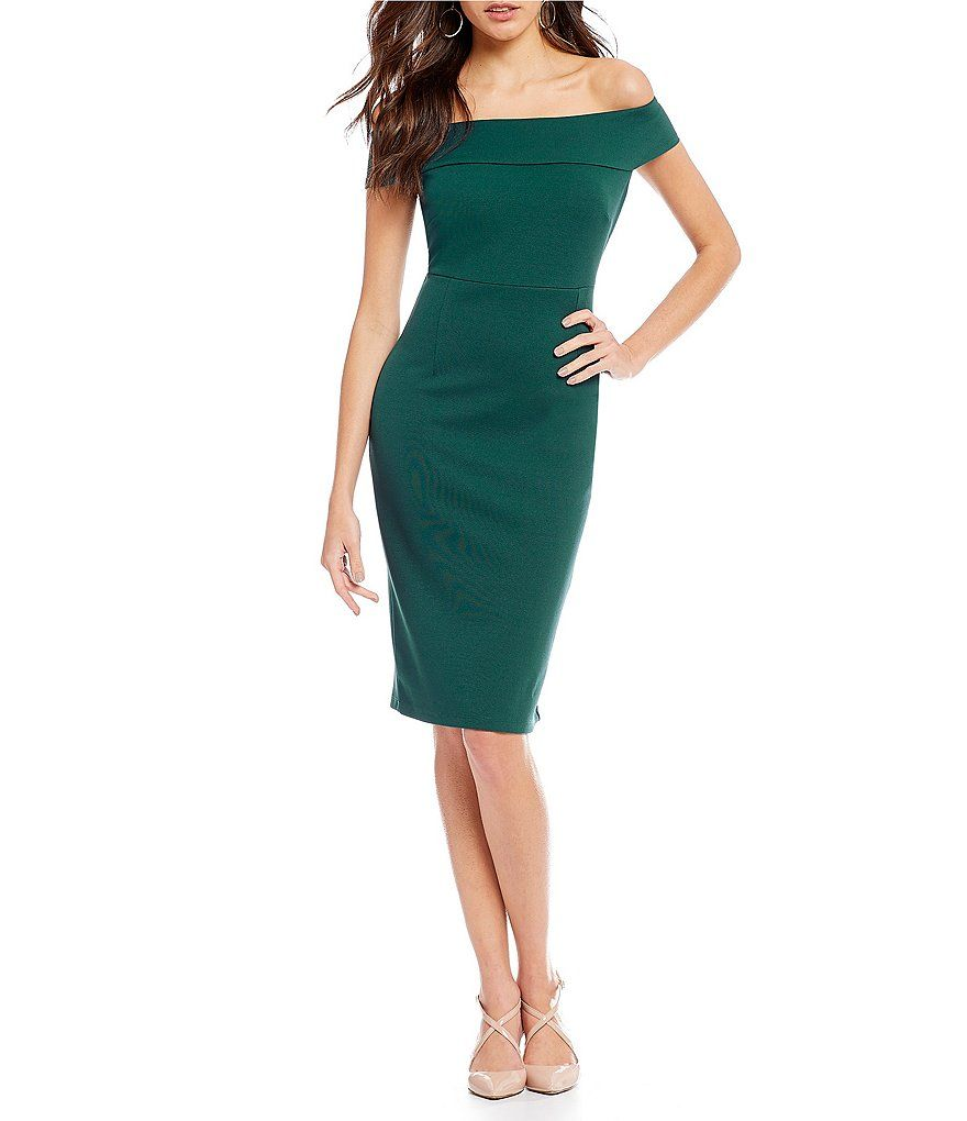 1d28fad375b0 Adrianna Papell Off-The-Shoulder Fitted Dress