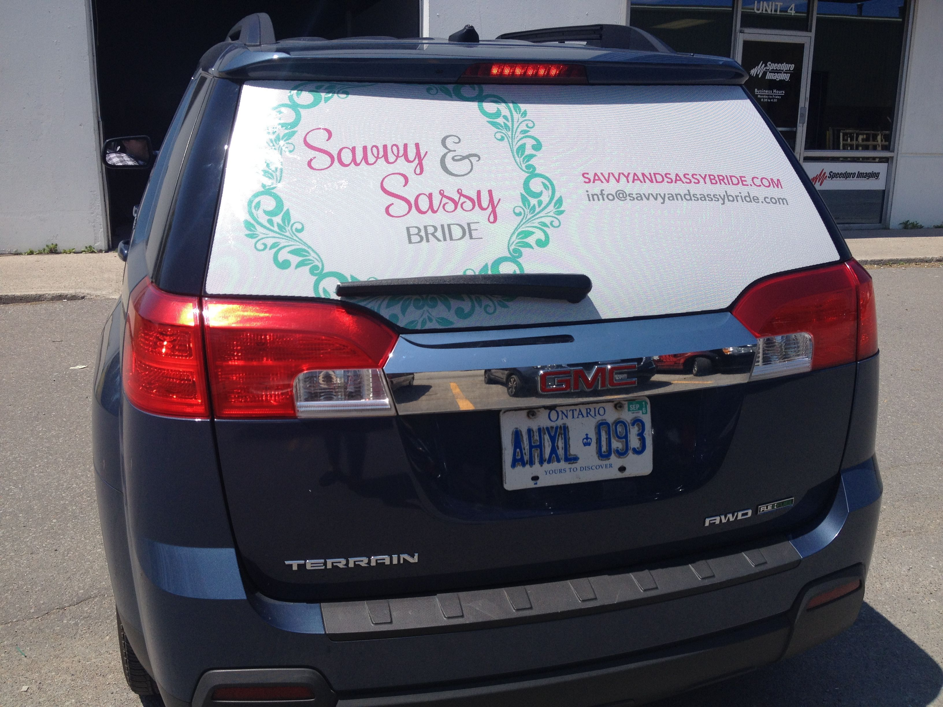 Look Who Just Left With Her New Rear Window Graphics Christine - Chevy rear window decals trucksharleydavidson rear window graphic decal lightning
