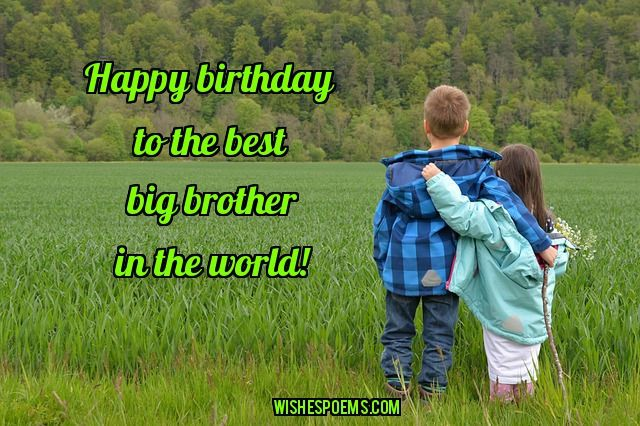 125 Birthday Wishes For Brothers Happy Birthday Brother Happy Happy Birthday Wishes To Big