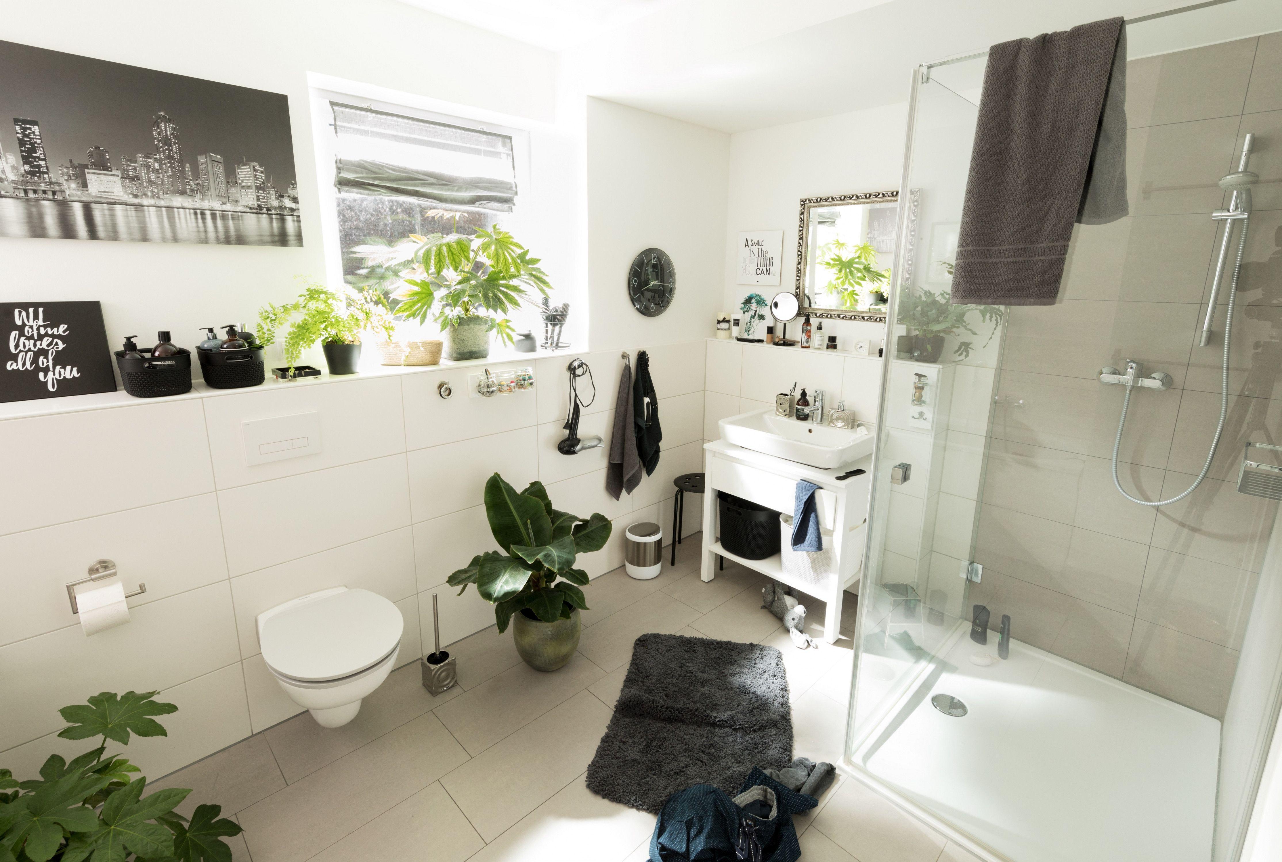 Badezimmer Verschonern Dekoration Weisse Badezimmer Dekoration