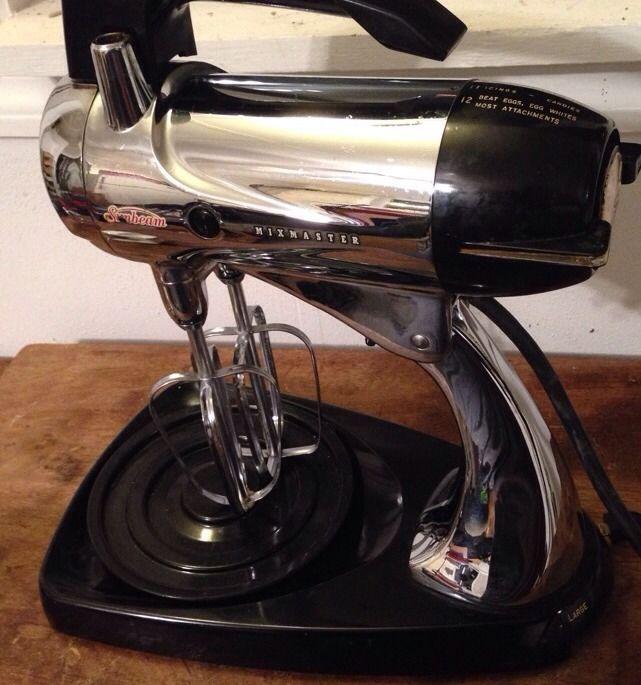 Kitchen Garden Model: Vintage 1950's Sunbeam Mixmaster Model 12C Black & Chrome