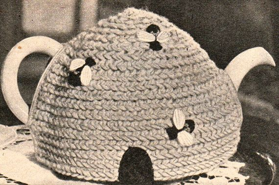 Vintage Beehive Bee Tea Cosy Cozy Crochet Pattern Pdf Email Delivery