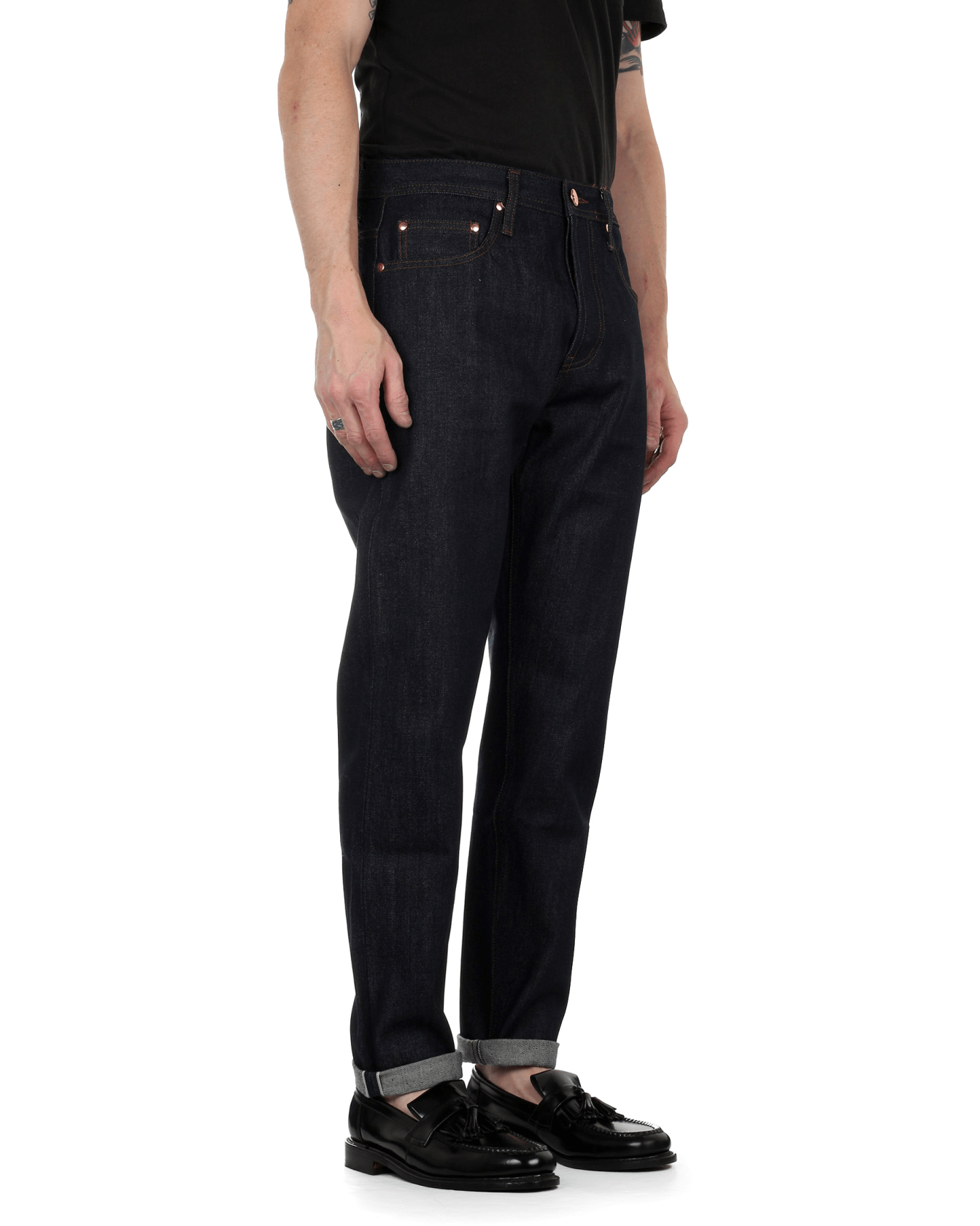 14.5oz Indigo Selvedge Unbranded UB601 Relaxed Tapered Mens Jeans