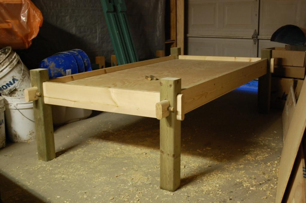 Bed frame for all seasons primitive camp primative for Couch 90x200