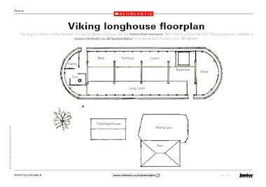 Use This Floor Plan Of A Viking Longhouse To Inspire History Activities.