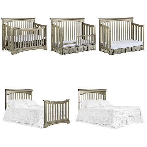 "Evolur Catalina Flat Top Collection Convertible Crib - Pewter - Evolur - Babies ""R"" Us"