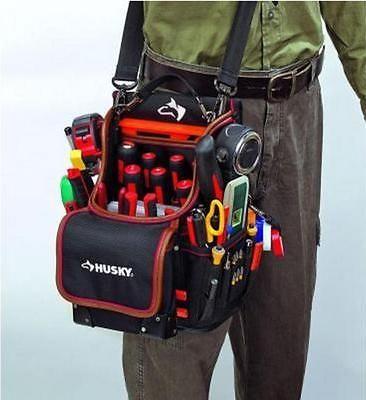 Husky 3 Pocket Leather Tool Pouch Handyman Contractor Diy Storage Organizer Bag Husky Tool Bag Hvac Tool Bags Leather Tool Pouches