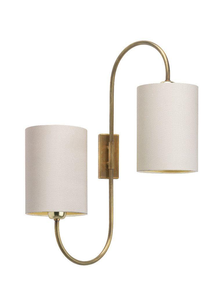 Heathfield Amp Co Bronte Antique Brass Wall Light Sconce