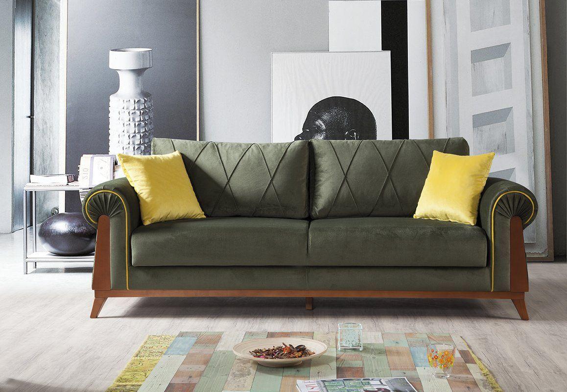 Lambert Sleeper Sofa By Perla Furniture Classic Sofa Bed Green Sofa Sofa