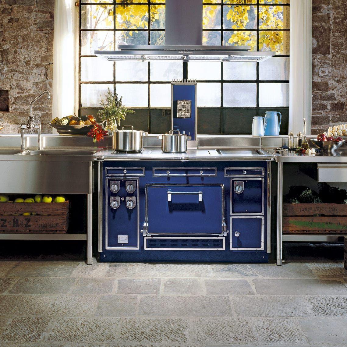 Cuisinière à Gaz électrique à Bois Mixte THE MOLTENI - Cuisinieres mixtes pour idees de deco de cuisine