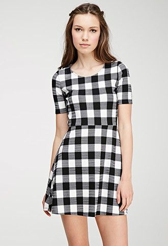Gingham Print A-Line Dress | Forever 21 - 2000053821 $16.99