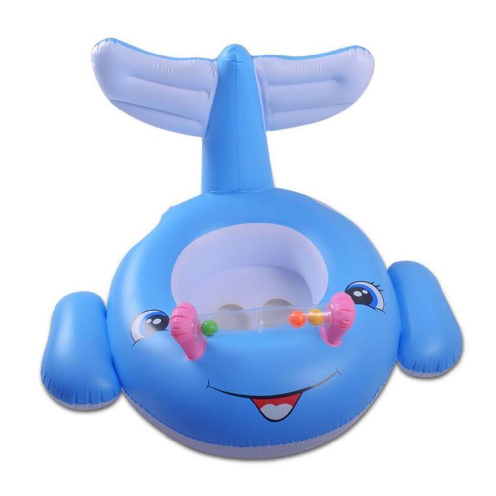 Animal Pattern Baby Float Ring Shark Shaped Children Swimming Pool ...