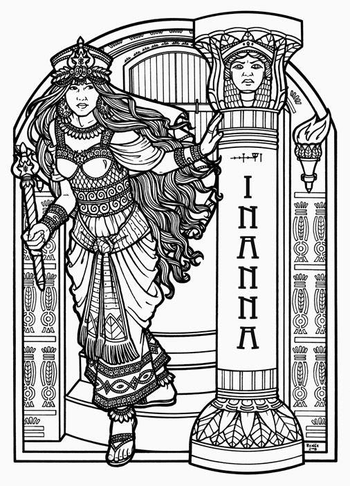 Inanna Sumerian Goddess Of Love Fertility And