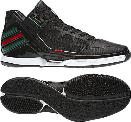 low priced d5ecb 90e2a adidas-adizero-rose-20-black-green-red