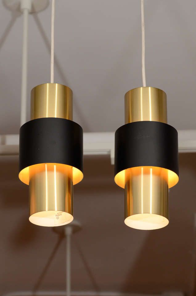 Cylindrical Br Pendant Lamps