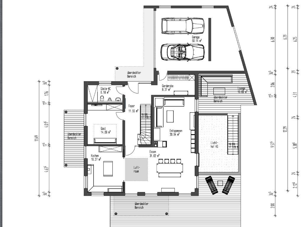 Bildergebnis f r grundriss wohnzimmer l form h user - Grundriss wohnzimmer ...