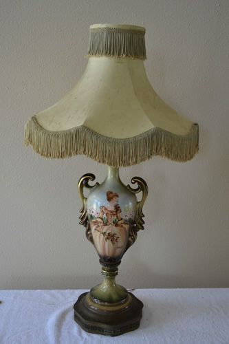 Antique victorian hand painted by r ducille french table lamp urn antique victorian hand painted by r ducille french table lamp urn vase lovely aloadofball Choice Image