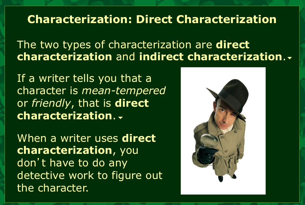what does direct characterization mean