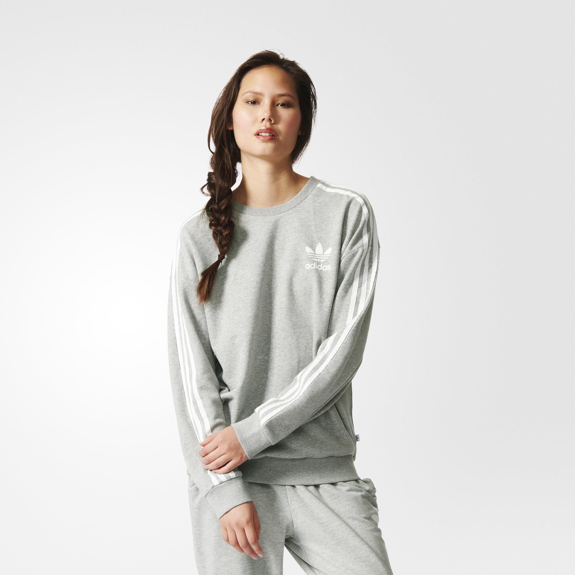 Adidas beckenbauer sweatshirt grey adidas us online hopping