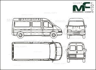 Ford FT 100 Transit box, roof medium, wheelbase long