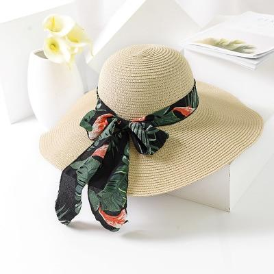 8d025ff7 BINGYUANHAOXUAN 2018 New Summer Female Sun Hat Bow Ribbon Panama Beach Hats  for Women Chapeu Feminino