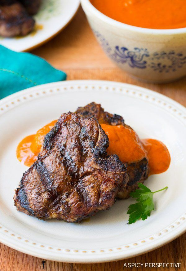 Grilled Lamb Chops with Ranchero Sauce @FoodBlogs