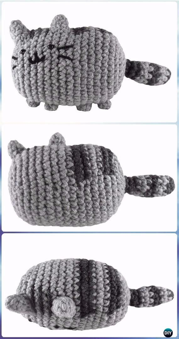 Crochet Amigurumi Pusheen the Cat Free Pattern - Crochet Amigurumi ...