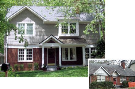 Home additions before and after floor additions before for Second floor addition before and after