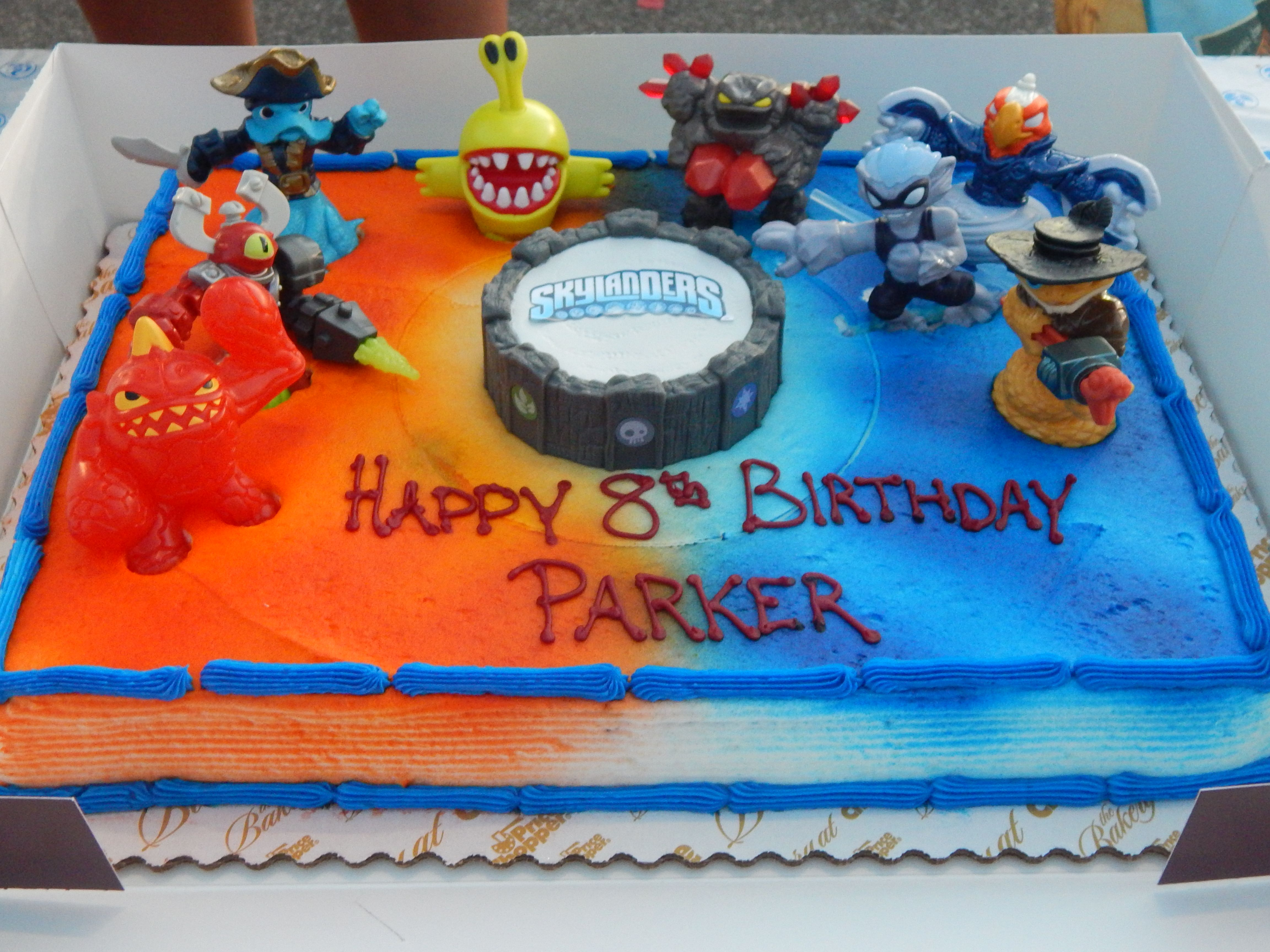Another pic of my sons Skylanders birthday cake Portal was from a