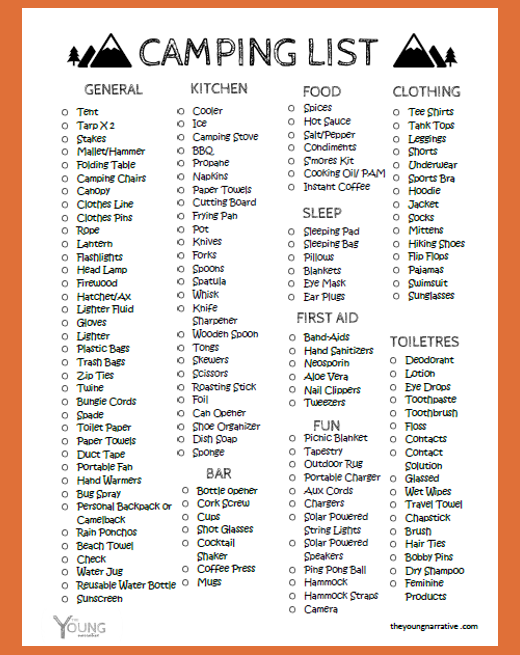 Photo of Free to print out: The ultimate Car Camping Checklist #Print #C