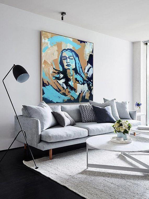 face painting large painting large art acrylic painting on modern acrylic paintings for living room id=82097