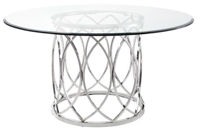 Matson Circular Dining Table Glass Dining Table Circular Dining