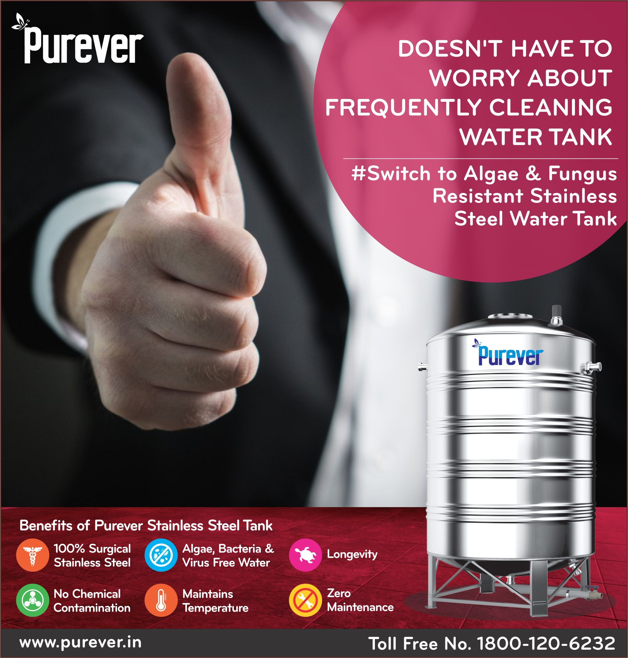 Doesn T Have To Worry About Frequently Cleaning Water Tank Switch To Algae Fungus Resistant Stainless Steel W Steel Water Tanks Water Tank Steel Water