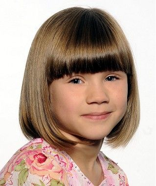 Medium Brown Straight Bob Children Hairstyles For Mini Me S