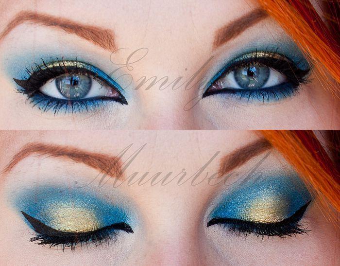 Blue & Gold Eyeshadow