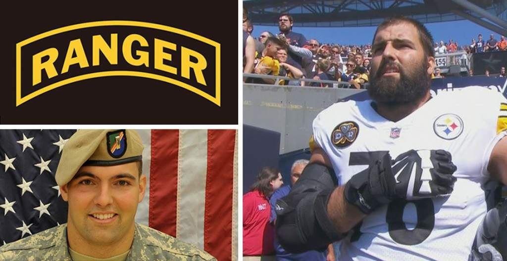 a2e447ce7d5 PITTSBURGH STEELERS~ Army Ranger veteran Alejandro Villanueva  78 US  national anthem
