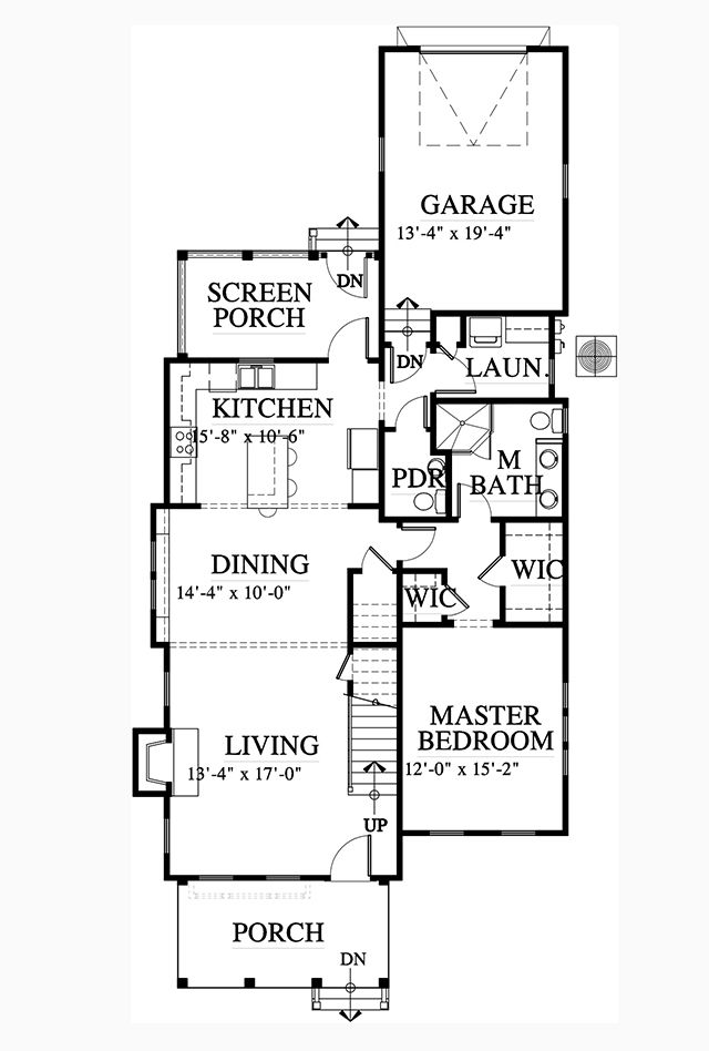 Has The Right Rooms And Interetsing Connections I Don T Like Kitchen Open To Dining Or Living Big Mess I Open Floor House Plans House Plans Small Floor Plans