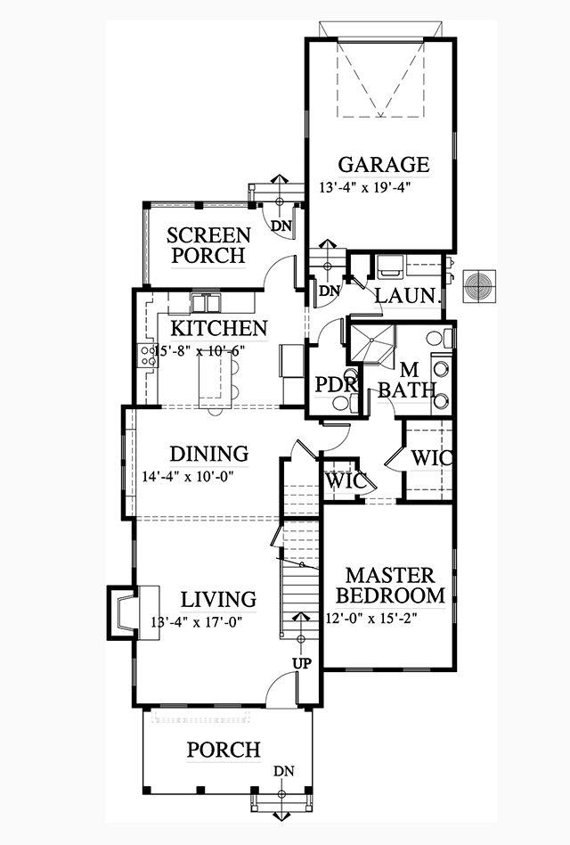 Main Level Floor Plan new house Pinterest House, Southern