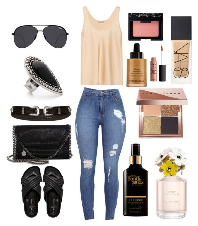 """""""1."""" by courtneyjwotherspoon on Polyvore featuring Michael Kors, River Island, STELLA McCARTNEY, Pieces, Samantha Wills, Bobbi Brown Cosmetics, Quay, Marc Jacobs, Bondi Sands and NARS Cosmetics"""