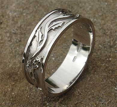 wedding rings made in scotland scottish wedding rings uk thistle pattern celtic ring - Scottish Wedding Rings