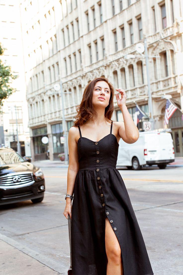 Dallas fashion blogger style; Reformation linen dress ...
