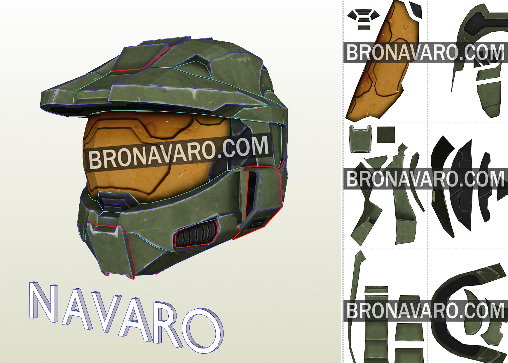 Master Chief Helmet Foam Template Halo 3 Cosplay Helmet Master Chief Helmet Pattern Halo 3 Helmet Pepakura Master Chief Armor Halo Master Chief Helmet Halo Master Chief