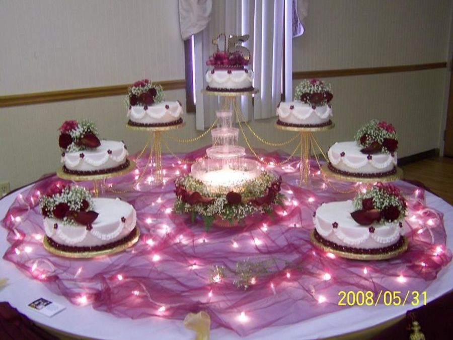 Fountain Wedding Cakes, Wedding Cake