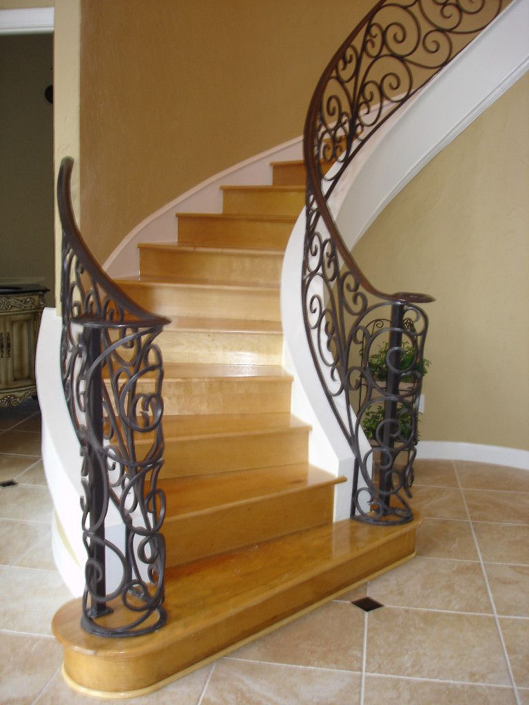 Stair Remodel Wrought Iron Staircase Gallery Houston