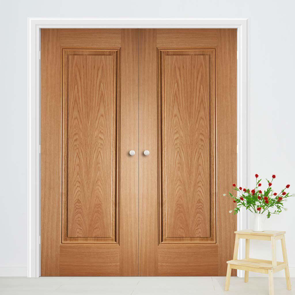 Eindhoven 1 Panel Oak Door Pair Prefinished In 2020 Oak Doors Door Design Walnut Doors
