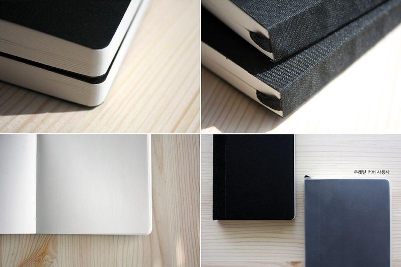 [백상점] whitestore plain notebook black