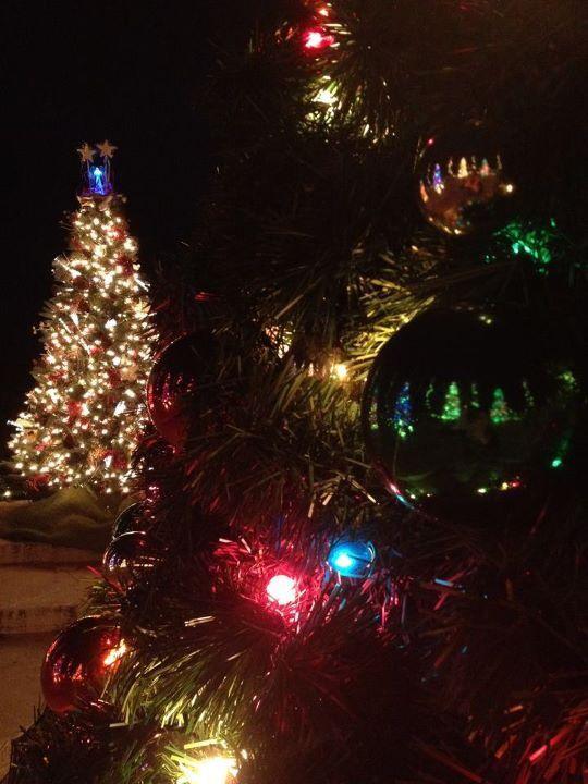 Christmas in downtown Punxsutawney, Pennsylvania